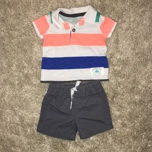 Newborn short and shirt set